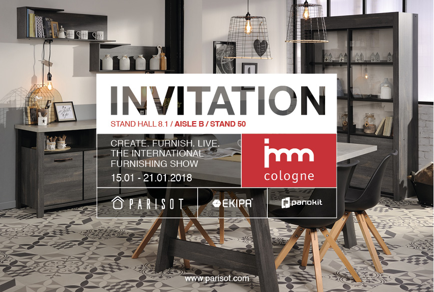 Invitation Salon Cologne imm 2018 Parisot