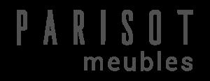 Logo Parisot meubles gris sur fond transparent